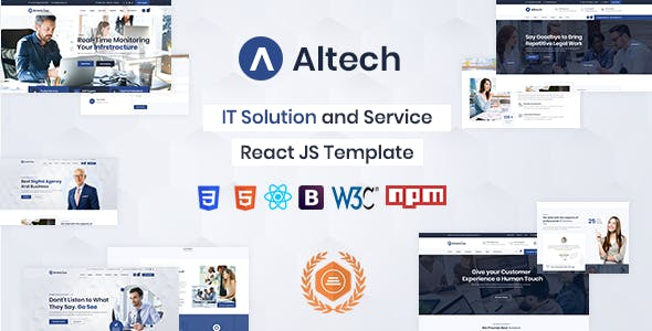 Download Altech - React IT Solutions & Multi Services Template