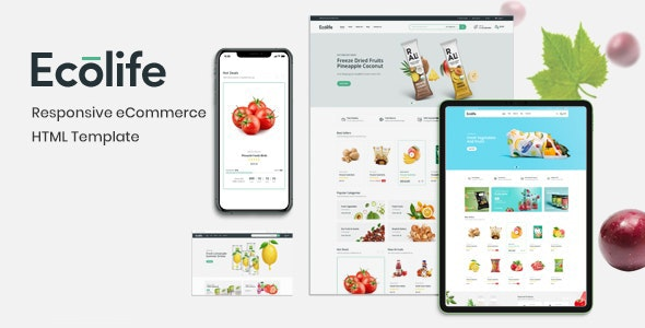 Ecolife – Multipurpose eCommerce HTML Template - Shopping Retail