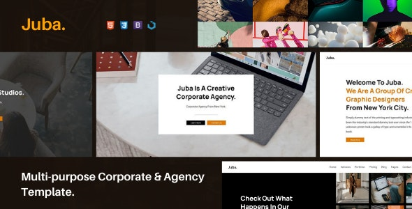 Juba — Multi-Purpose Corporate & Agency Template - Corporate Site Templates