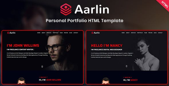 Download Aarlin - Personal Portfolio Template