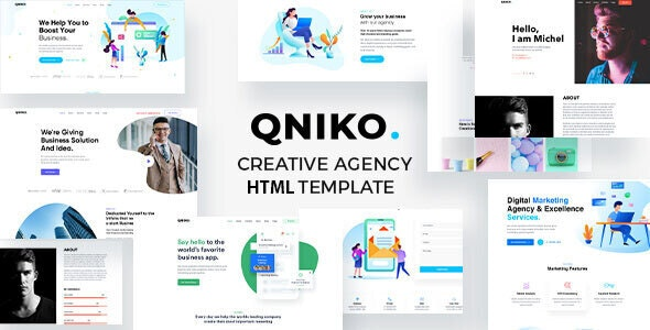 Qniko - Startup Agency HTML5 Template With RTL Support - Creative Site Templates