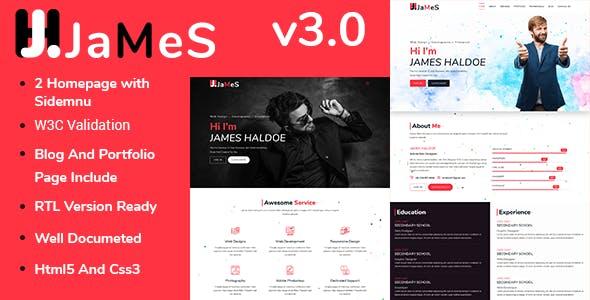 James - Personal Portfolio HTML5 Template