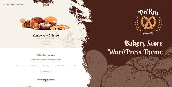 Porus - Bakery Store WordPress Theme - Food Retail