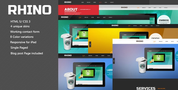 Rhino - Single Page Responsive Html5 Css3 Template - Creative Site Templates