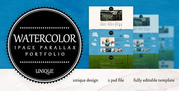 Unique One Page Parallax Portfolio
