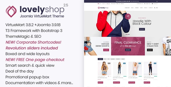 LovelyShop - Responsive Multipurpose VirtueMart Theme - VirtueMart Joomla
