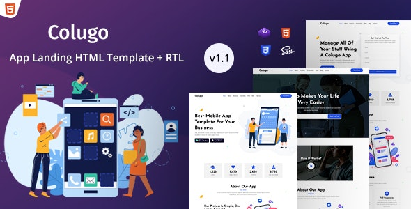Colugo - App Landing Page HTML Template - Landing Pages Marketing