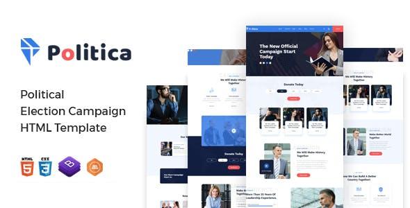 Download Politica - Political Election Campaign HTML Template