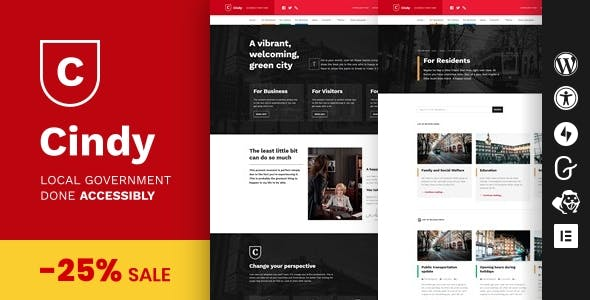 Download Cindy - Accessible Local Government WordPress Theme