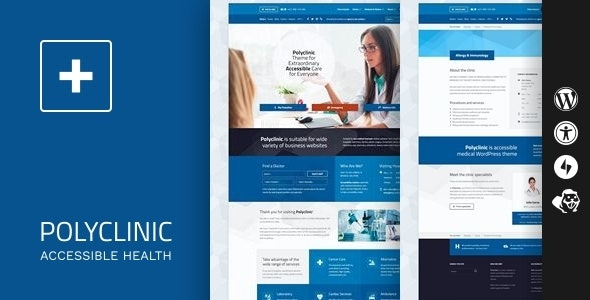 Polyclinic - Accessible Medical WordPress Theme - Health & Beauty Retail