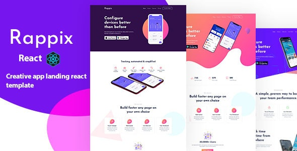 Rappix - React App Landing Template - Marketing Corporate