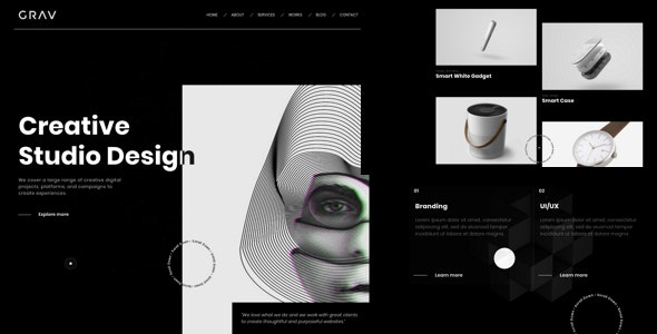 GRAV - Creative Portfolio HTML5 Template - Creative Site Templates