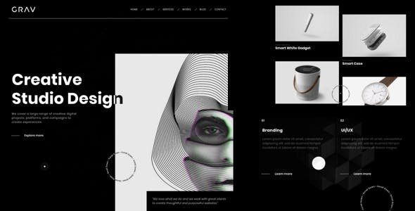 Download GRAV - Creative Portfolio HTML5 Template