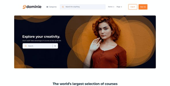 Dominie | LMS & Online Courses PSD Template
