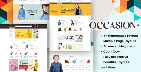 Occasion - Responsive Shopify Theme for Supermarket, Fashion, Shopping, etc... - Shopping Shopify