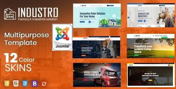 Industro - Factory & Industrial Joomla Template - Business Corporate