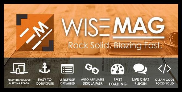 Wise Mag | AdSense Optimized Magazine WordPress Theme - News / Editorial Blog / Magazine