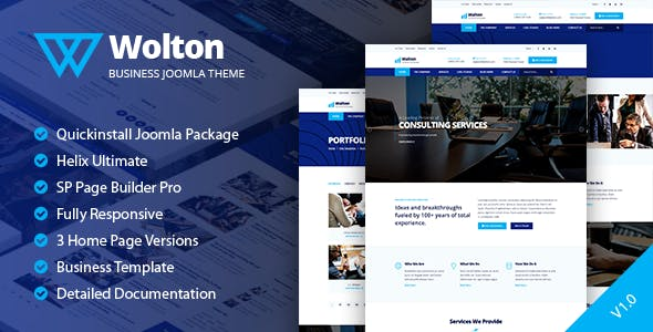 Download Wolton - Business & Corporate Joomla Template