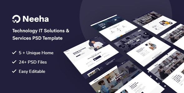 Neeha - Technology IT Solutions & Services PSD Template - Business Corporate