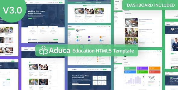Aduca - Education HTML5 Template with Dashboard - Corporate Site Templates