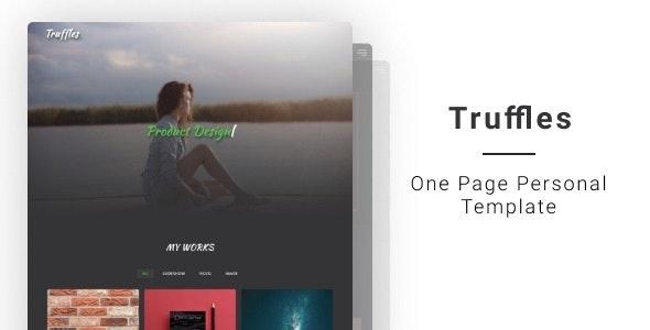 Truffles | One Page Personal Template - Portfolio Creative