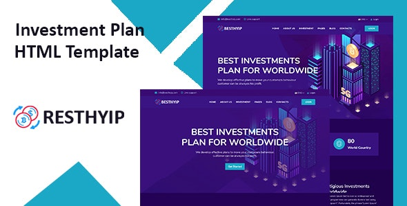 Resthyip - HYIP & Financial Investment HTML Template - Retail Site Templates