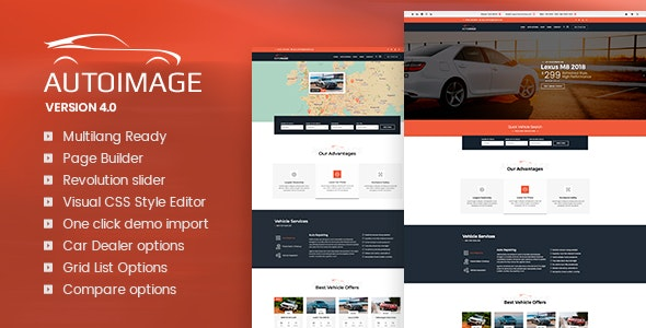 Autoimage - Automotive Car Dealer - WordPress