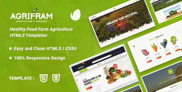 Download Agrifram - Agriculture and Organic Food HTML Template