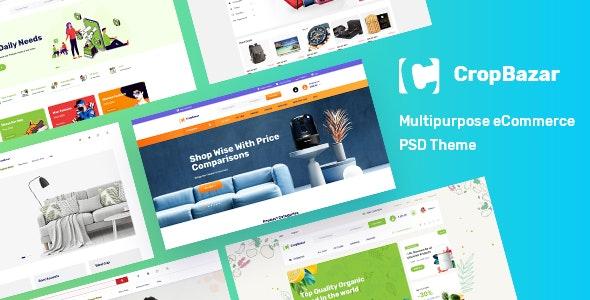 CropBazar - Multipurpose eCommerce PSD Template - Photoshop UI Templates