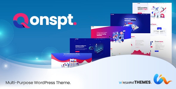Qonspt - Isometric MultiPurpose WordPress Theme - Business Corporate