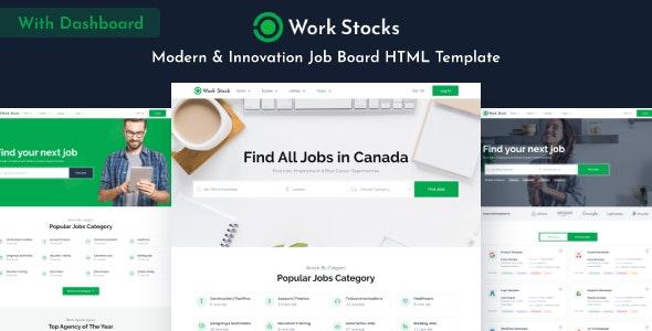 Work Stocks - Job Board HTML Template - Business Corporate
