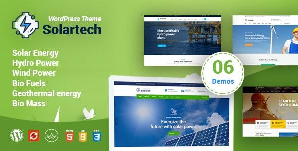 Solar Tech - Alternative & Renewable Energy WordPress Theme - Business Corporate