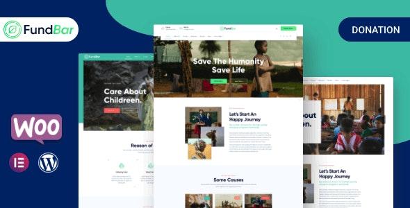 FundBar - Fundraising Charity Theme - Charity Nonprofit