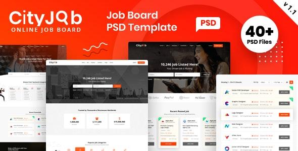Cityjob Job Board Template - Business Corporate