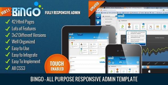 Bingo - All Purpose Responsive Admin Template