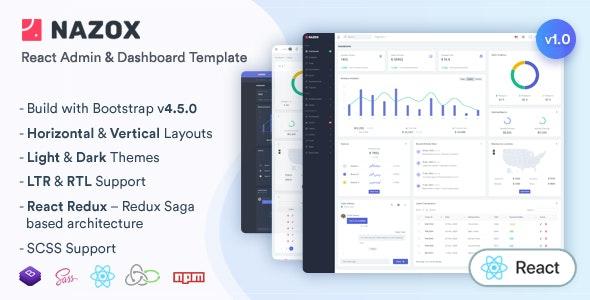 Nazox - React Admin & Dashboard Template - Admin Templates Site Templates