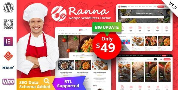 Download Ranna - Food & Recipe WordPress Theme
