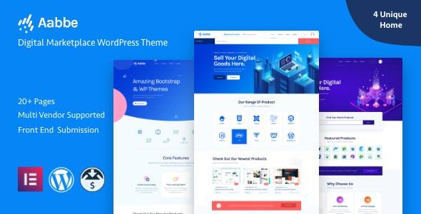 Download Aabbe – Digital Marketplace WordPress Theme