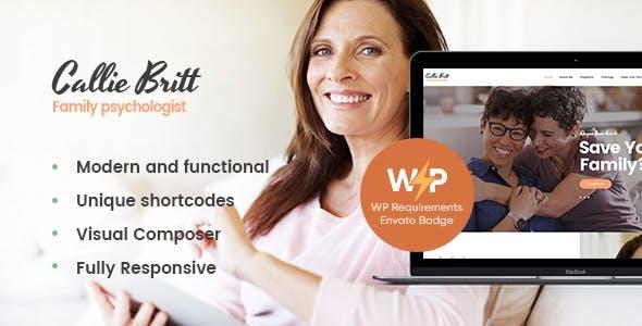 Callie Britt | Family Counselling Psychology WordPress Theme
