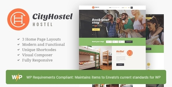 City Hostel | A Travel & Hotel Booking WordPress Theme - Travel Retail