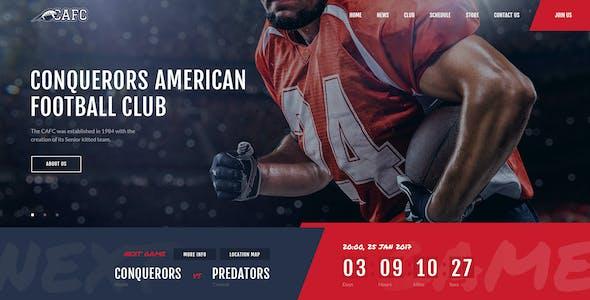 Conquerors | American Football & NFL WordPress Theme