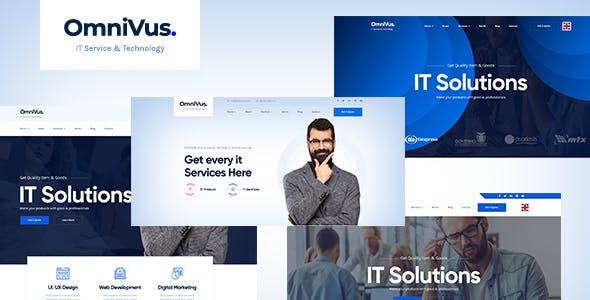 Download Omnivus - Angular 9 IT Solutions & Digital Services Template