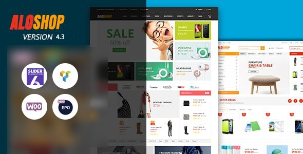 Alo Shop - Mega Market RTL Responsive WooCommerce WordPress Theme - WooCommerce eCommerce