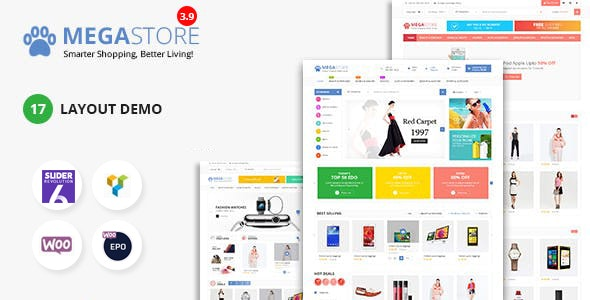 Mega Marketplace Store RTL Responsive WooCommerce WordPress Theme - WooCommerce eCommerce