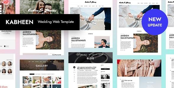 KABHEEN - Responsive Wedding Web Template - Wedding Site Templates