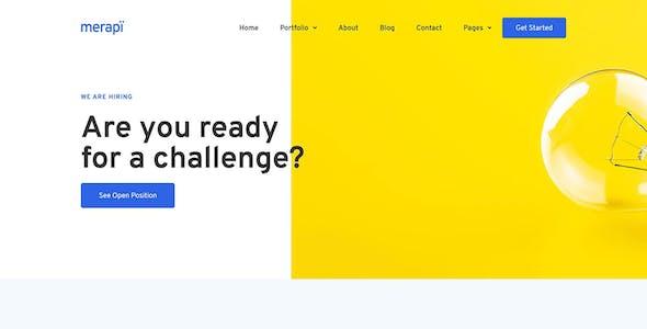 Merapi - Mobile App & Technology Template Kit