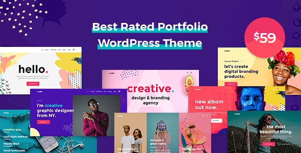 Leedo – Modern, Colorful & Creative Portfolio WordPress Theme - Portfolio Creative