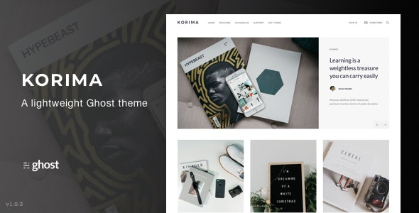 Korima - Multipurpose Ghost Blog Theme - Ghost Themes Blogging