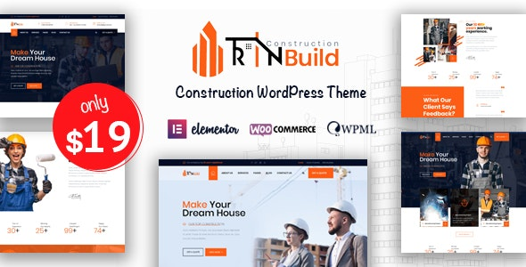 Rin Build - Construction Company WordPress Theme - Business Corporate