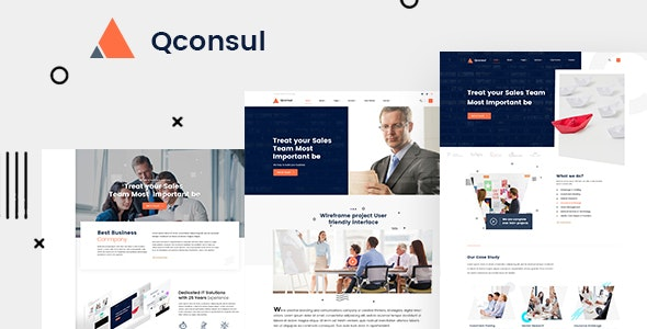 Qconsul - Business Consulting HTML Template - Business Corporate